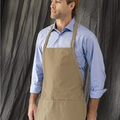 Adjustable Neck Strap Three Pocket Apron