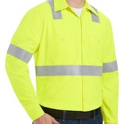 Enhanced Visibility Long Sleeve Work Shirt Long Sizes