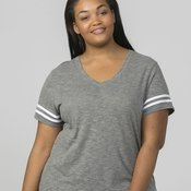 Sporty Slub T-Shirt - Plus Size