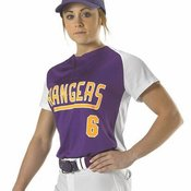 Girls' Two Button Fastpitch Jersey
