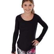 Girls Long Sleeve Active Top