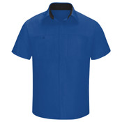 Men's Performance Plus Short Sleeve Shop Shirt with Oilblok Technology