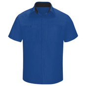 Men's Performance Plus Short Sleeve Shop Shirt with Oilblok Technology - Long Sizes