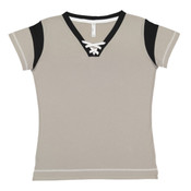 Ladies' Lace Up Fine Jersey Tee